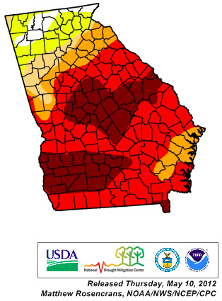 drought in south Georgia