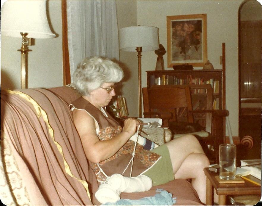 Jane knitting
