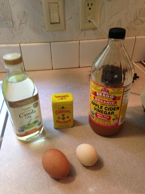 300x400 Mayo Ingredients, in Making Mayo at Home, by Gretchen Quarterman, for OkraParadiseFarms.com, 11 July 2014