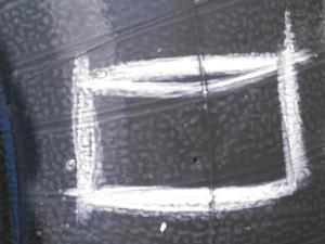 300x225 Puncture, in Flat tractor tire, by John S. Quarterman, for OkraParadiseFarms.com, 3 September 2014