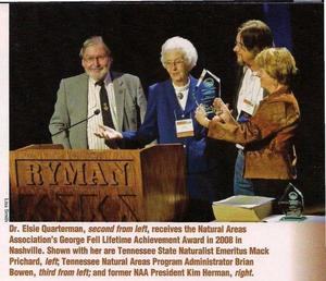 300x258 George Fell Lifetime Achievement Award 2008, in Tennessee Conservationist, by Brian Bowen, for OkraParadiseFarms.com, 1 September 2014