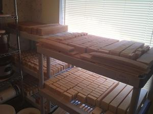 300x225 Curing, in Subject: Making soap with Milk, Essential Oils, & other Natural ingredients, by Tom Kuettner, for OkraParadiseFarms.com, 14 January 2015