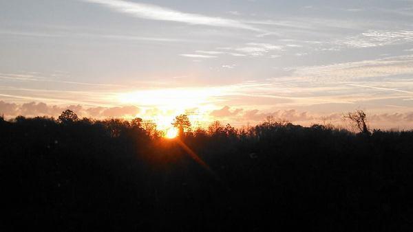 600x338 Sunrise, in Sunrise, by John S. Quarterman, for OkraParadiseFarms.com, 18 January 2015
