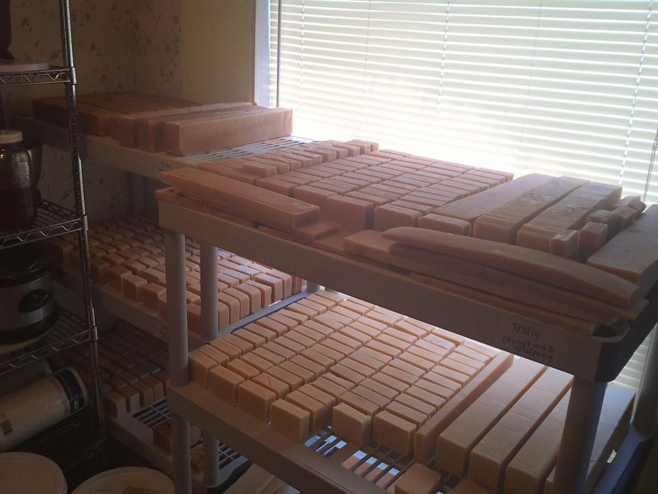 960x720 Curing, in Subject: Making soap with Milk, Essential Oils, & other Natural ingredients, by Tom Kuettner, for OkraParadiseFarms.com, 14 January 2015