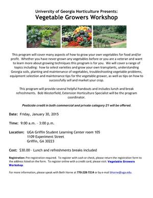 ... 300x388 2015 Invitation in Vegetable Growers Workshop by UGA Horticulture for OkraParadiseFarms.  sc 1 st  Okra Paradise Farms & UGA Vegetable Growers Workshop 2015-01-30 | Canopy Roads of South ...