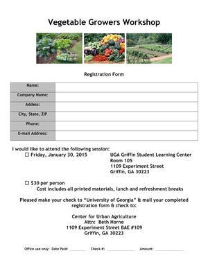 300x388 2015 Registration, in Vegetable Growers Workshop, by UGA Horticulture, for OkraParadiseFarms.com, 30 January 2015