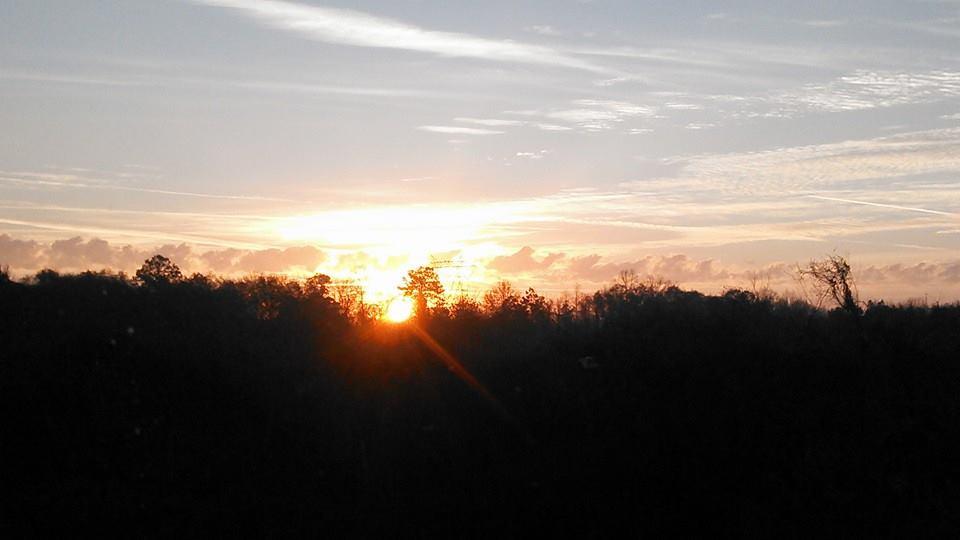 960x540 Sunrise, in Sunrise, by John S. Quarterman, for OkraParadiseFarms.com, 18 January 2015