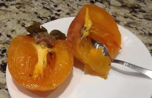 Cut persimmon