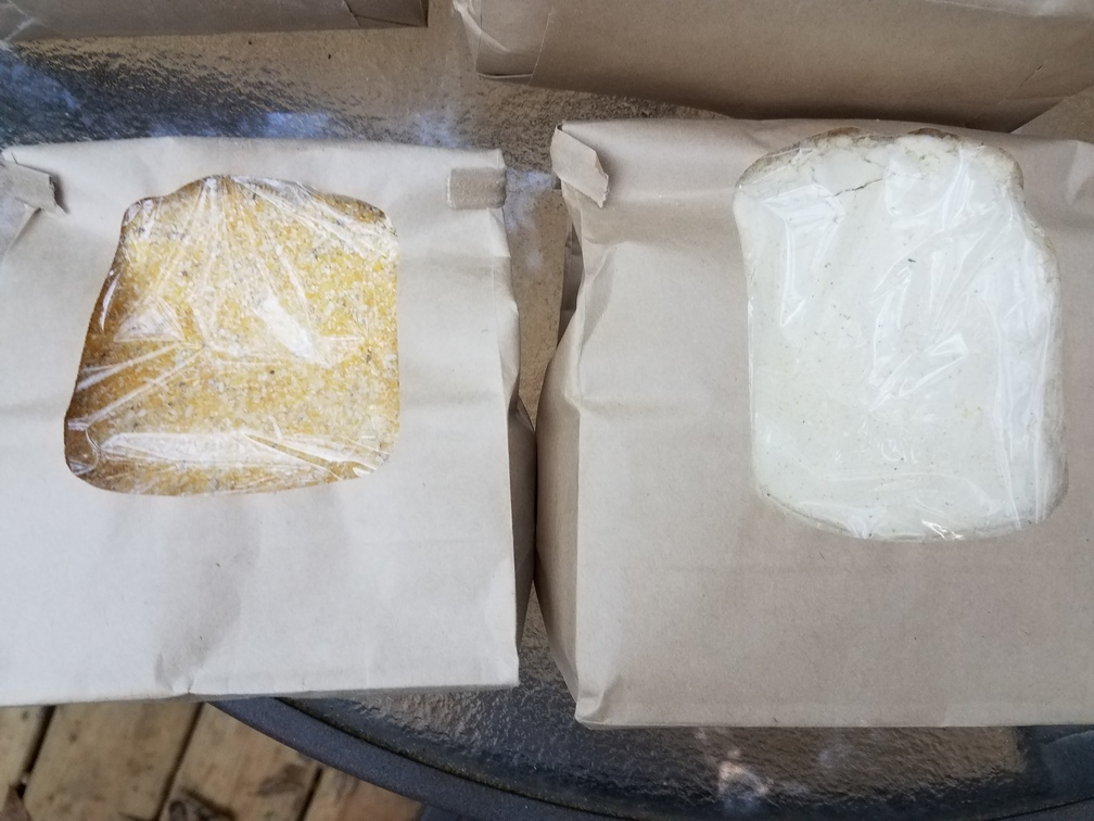 1008x756 Yellow corn flour and grits, in Grits and corn flower: red, white, blue, and yellow, by John S. Quarterman, for OkraParadiseFarms.com, 4 November 2016