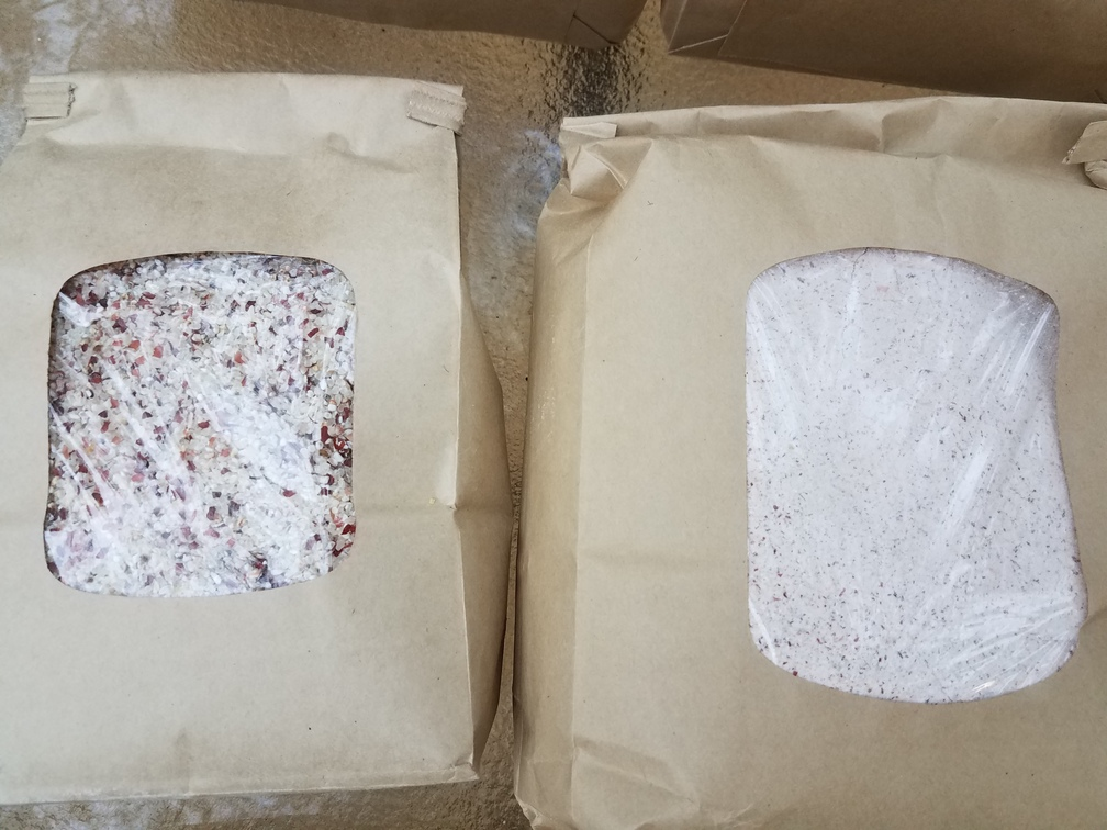1008x756 Red corn flour and grits, in Grits and corn flower: red, white, blue, and yellow, by John S. Quarterman, for OkraParadiseFarms.com, 4 November 2016