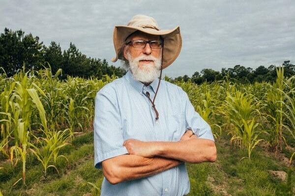 [John Quarterman on his farm in Lowndes County, Ga. Matt Odom / for NBC News]